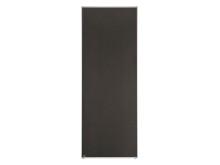 Skjutdörr Mirro Melamin Exklusiv Textil Brun Silver_Profil