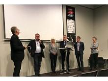 Mårten Johansson, Sveriges Åkeriföretag, Karin Svensson-Smith, Riksdagens Trafikutskott, Björn Westerberg, Tågoperatörerna, Rikard Engström, Svensk Sjöfart samt Karin Tornmalm, Skogsindustrierna.