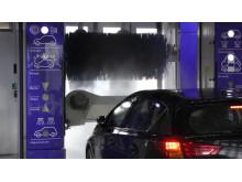 Biltvätt på en tvättanläggning minskar miljöpåverkan avsevärt