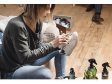 fräscha sneakers längre_rengör