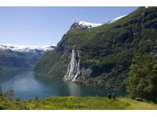 Der Geirangerfjord. Für die 360-Grad-Präsentation des Unesco-Welterbes erhielt Visit Norway 2012 einen Webby Award für die beste Startseite.