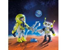 Duo Pack Astronaut und Roboter (9492) von PLAYMOBIL