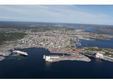 Flyfoto av Vestre Havn