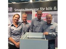 Malin Holmgren, Stefan Zinkell, Bertil Persson och Rolf Sjölander, Chefline