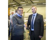 Stene Bergsløkken og ordfører i Tysnes Kåre Martin Kleppe
