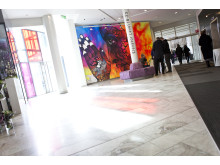 Carolina Falkholts graffitkonstverk i Gothia Towers hotellobby