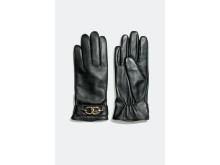Leather gloves with chain details