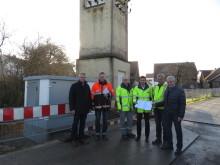 In Seubersdorf zwischen Sudetenstraße und Ostengasse verstärkt das Bayernwerk das Stromnetz