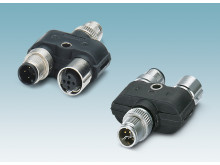 Y-distributor separates CAT5 and power