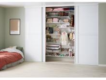 Garderob för kläder och leksaker - crispy white