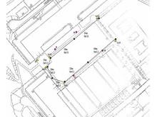 Karta, ljusinstallation i Hjulsta