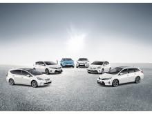 6 Toyota-hybrider i Sverige
