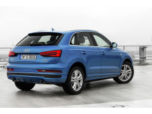 Audi Q3 blue right side rear