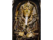 Tutankhamuns begravningsmask i original. Foto: Dynamichrome.