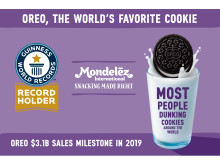 Guinness World Record for most people dunking cookies around the world achieved by Mondelez International