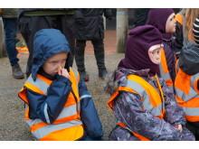 En død hval lugter lidt - der var dog stor interesse og mange gode spørgsmål fra børnene