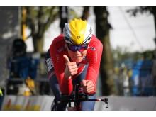 Søren Wærenskjold under sykkel-VM i Bergen