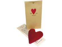 Minivetevärmare - Ett hjärta som värmer