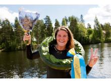 Annie Thorén segrare i Vansbro Tjejsim 2016