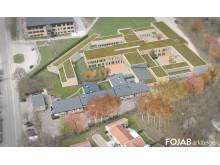 Skiss på planerad utformning av SiS nya ungdomshem i Hässleholm.