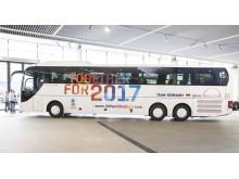 MAN støtter 2017 IIHF Ice Hockey World Championships ved at stille 20 MAN Lion's Coach busser til rådighed. Den første af de 20 busser, som blev overrakt til det tyske ishockey forbund (DEB) vil køre som holdbus for det tyske landshold