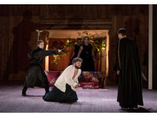 Press photo: Raffaella Milanesi, Peter Lodahl, Christophe Dumaux. Mitridate, Drottningholms Slottsteater 2014