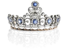 """The Russian Sapphire Tiara"". Sold for: DKK 2 million"