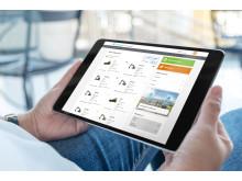 Swecon Baumaschinen GmbH - Ansicht mySwecon Maschinenübersicht Tablet