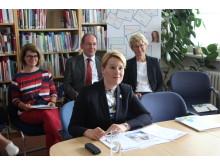 Bundesfamilienministerin Dr. Franziska Giffey nimmt an einem Demenz Partner-Kurs der Deutschen Alzheimer Gesellschaft teil