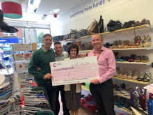 Cancer Research cheque presentation