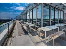Areal furniture group, design Broberg & Ridderståle and Sun table, design Monica Förster.