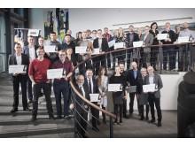 Gruppefoto af alle modtagere af midler fra EWII Værdipulje