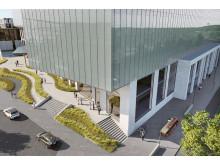 Assemblin får uppdrag genom BRA Bygg för Geely Innovation Centre i Göteborg. Illustration: Geely/Arkitektbyrån Design