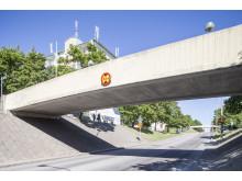 Rinkebystråket. Vy från medborgarhuset augusti 2013.