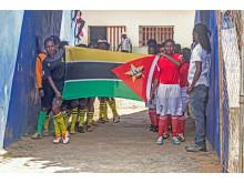 Mutola Cup 2013 - spelarna träder in på plan