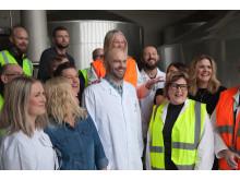 Medverkande anställda på bryggeriet i Falkenberg