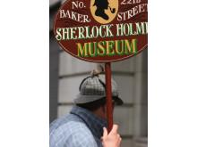 Gode gamle Sherlock Holmes trækker også mange danskere forbi museet i Baker Street.