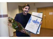 Niklas Holtne, 2018 års Alice Tegnér stipendiat.