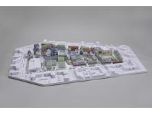 3D-printad modell av Ebbepark i Linköping