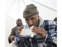 Rinkebybor köade för test av lungfunktion