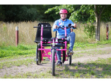 Robin Berkhuizen på cykel