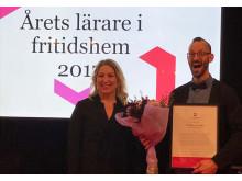 Gustav Sundh, årets lärare i fritidshem