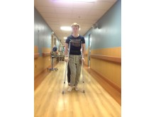 Kristian på sykehuset etter operasjonen. Arkivfoto: Pär Sundquist