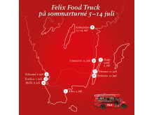 Felix Food Trucks sommarturné 2014