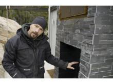 Björn bygger bo - Murad eldstad med rök 3