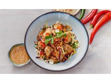 New plant-based Thai salad with Oumph! at Busaba