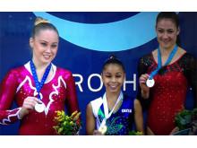 Emma Larsson, silver i World Challenge Cup i artistisk gymnastik