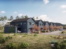 Brf Byfjorden - 3D-bild av gatan och husen