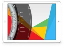Creation 5 iPad App – main menu