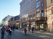 Fasadvy av fastigheten Oscar 28 i centrala Malmö